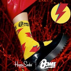 全场低至£13起Happy Socks x David Bowie 联名限定袜上线 时尚前卫闪电侠