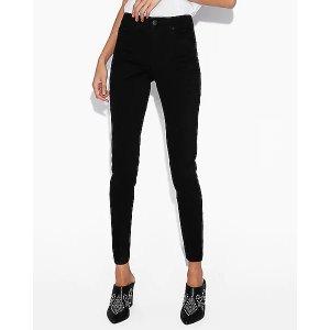 Express第二件$29.9高腰紧身牛仔裤