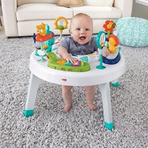 Fisher-Price 2-in-1 Sit-to-Stand Activity Center, Spin 'n Play Safari @ Amazon