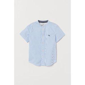 H&M无领衬衫