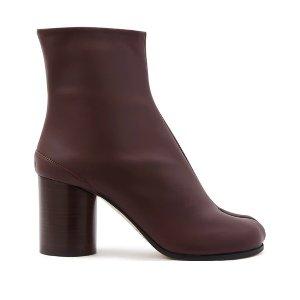 Maison Margiela经典酒红色分趾靴