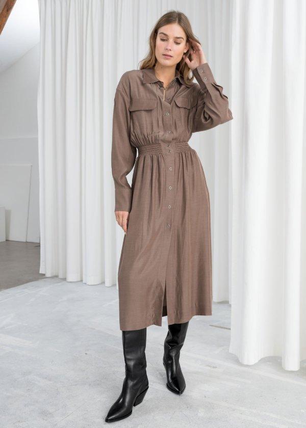 工装连衣裙