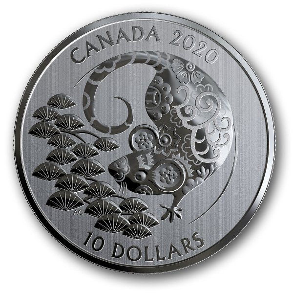鼠年 纯银纪念币 $10面值