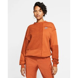 Nike橘色卫衣