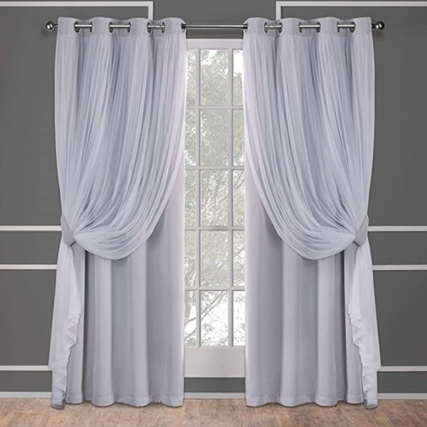 Exclusive Home Curtains 52x96 烟灰色窗帘 2片