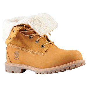 Timberland女士翻毛工装靴