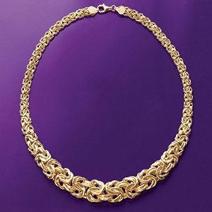 Today Only: on Select Italian 18k Yellow Gold Byzantine Jewelry