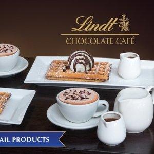 5折  美味甜品,让幸福感upLindt Chocolate Café 瑞士莲巧克力双人下午茶
