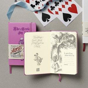 $5Moleskine Alice's Adventures in Wonderland Limited Edition Notebook, Pocket, Ruled, Pink Magenta, Hard Cover