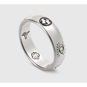 CDN$265开挂Gucci新品Sterling silver刻花涂鸦戒指,IG博主都秀了!