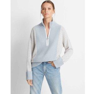 Club MonacoQuarter-Zip Cashmere Sweater
