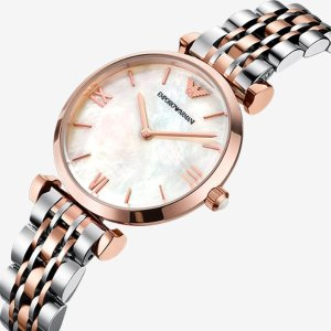 Up to 47% Off + Extra $10 OffEMPORIO ARMANI Classic Mother of Pearl Dial Ladies Watch 3 styles