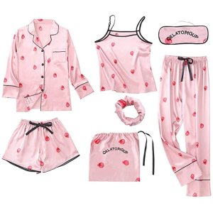 $39.99起 收7件套Youth Union 可爱睡衣 4种穿搭方式 舒适丝滑垂坠质感