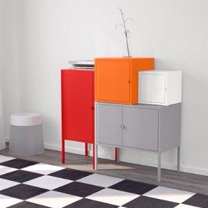 $95(原价$170)Ikea 宜家 LIXHULT 金属质地的储物组合柜