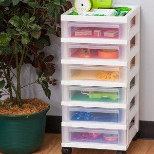 $20.98 (原价$43.99)史低价:IRIS 6层储物收纳柜可移动 3色可选