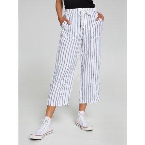 Kara Wide Leg Linen 休闲裤