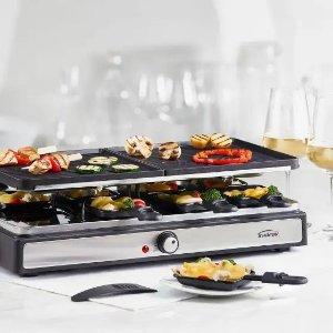 Swiss Gourmet Raclette 19件8人双层烤盘