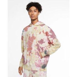 Nike脏粉系扎染风卫衣