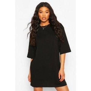 BoohooDrop Shoulder Oversized T-Shirt Dress | boohoo