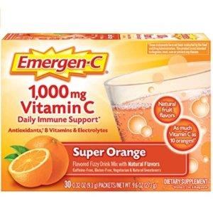 Emergen-C 1000mg 维生素C冲剂 30袋 提高免疫力