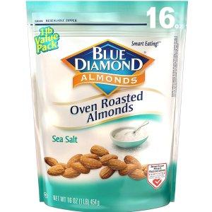 $5.42Blue Diamond Almonds Oven Roasted Snack Nuts, Sea Salt, 16 Oz
