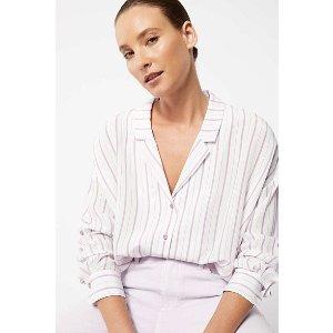 Stripe Silk 衬衣