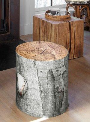 Chalet log pouf   Simons Maison