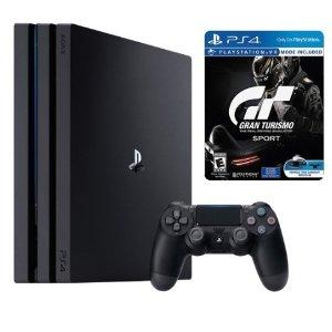 $351.99(原价$419.99)PS4 Pro 1TB 标准版主机 + 《GT 赛车》铁盒限量版