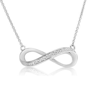 Sterling Silver Diamond Accent 18 inch Infinity Necklace - MassGenie