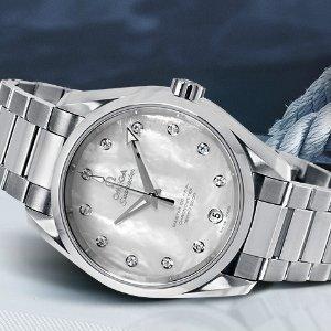 额外减$500 $3495 国内公价¥51700比黑五低:OMEGA 海马系列镶钻机械奢华女表