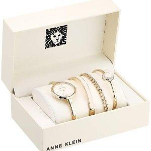 82a285ddf Anne Klein Women's Bangle Watch and Swarovski Crystal Accented Bracelet Set