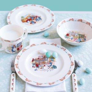 5折+额外9折折扣升级:ROYAL DOULTON 小兔子骨瓷碗碟套装 儿童餐具