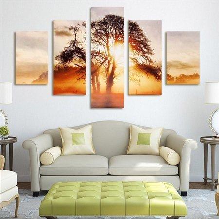 落阳下的松树挂画套装