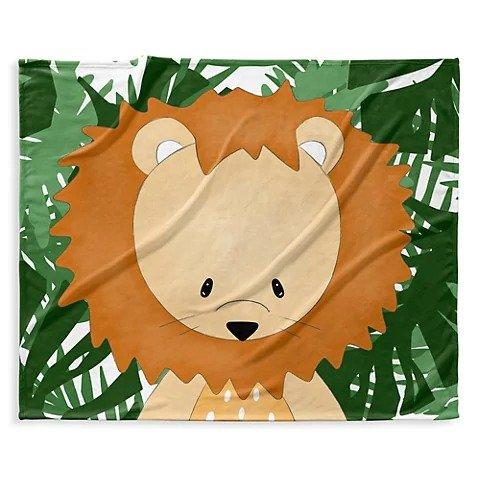 狮子图案 绒毯