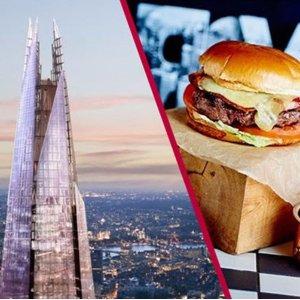 双人套票£89 浪漫3道菜套餐Marco Pierre 意式大餐 享伦敦最高点碎片大厦观景