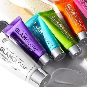 满£25即8折 £33收白罐清洁面膜GLAMGLOW 官网全线护肤热促 最新款蓝莓益生菌修复面膜也参加