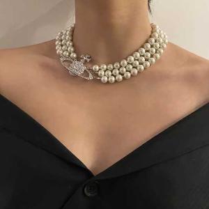 Vivienne Westwood虞书欣、陈意涵等明星同款!三层珍珠项链