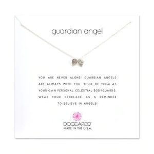 Dogearedguardian angel necklace, sterling silver