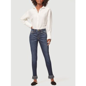 Frame DenimLe Skinny de Jeanne Shredded Raw -- Wrigley