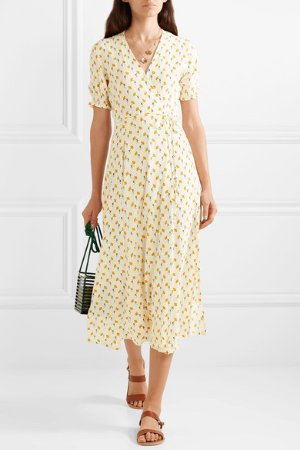 Faithfull The Brand | Hana floral-print crepe wrap dress | NET-A-PORTER.COM