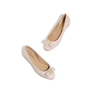 Salvatore Ferragamo粉色蝴蝶结单鞋