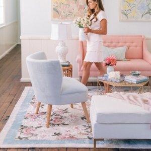 lulu & georgia玫瑰地毯5x8