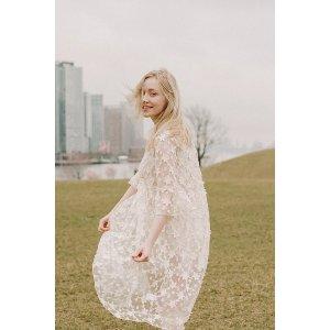晒货同款透明欧根纱星星裙