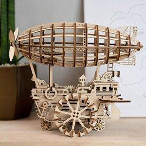 $27.49(原价$49.99)+包邮ROBOTIME 3D 木质飞船,行驶超顺滑
