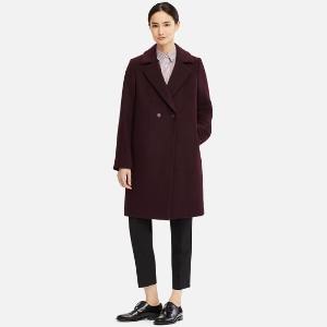 $129.9 (原价$149.9) 三色可选Uniqlo 优衣库羊毛混纺大衣特价 平价版MaxMara