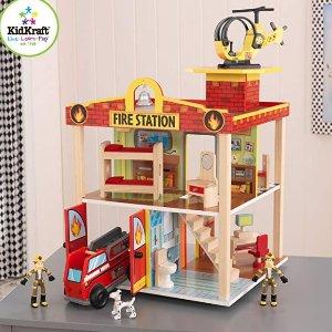 Amazon Kidkraft Fire Station Set