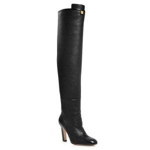 b097e4765619 Stuart Weitzman Women s Eloise 30 Almond Toe Suede Boots · Stuart  WeitzmanWomen s Edie Round Toe Leather High-Heel Boots