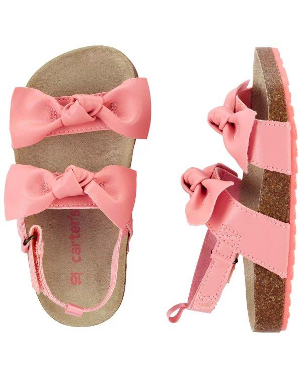 儿童蝴蝶结凉鞋