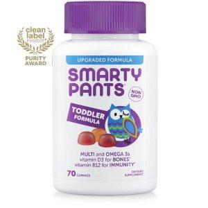 (2 pack) SmartyPants Toddler Formula Multivitamin Gummies, 70 Ct - Walmart.com