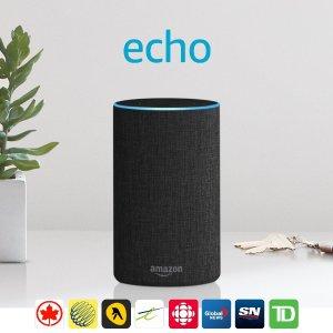 买2件立减$40Amazon Echo 2代 智能语音管家 多色可选